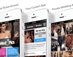 Wedding RSVP website on a mobile device