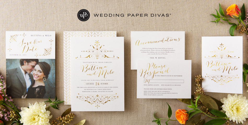 Wedding invitations from Wedding Paper Divas