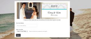 Digital Wedding RSVP