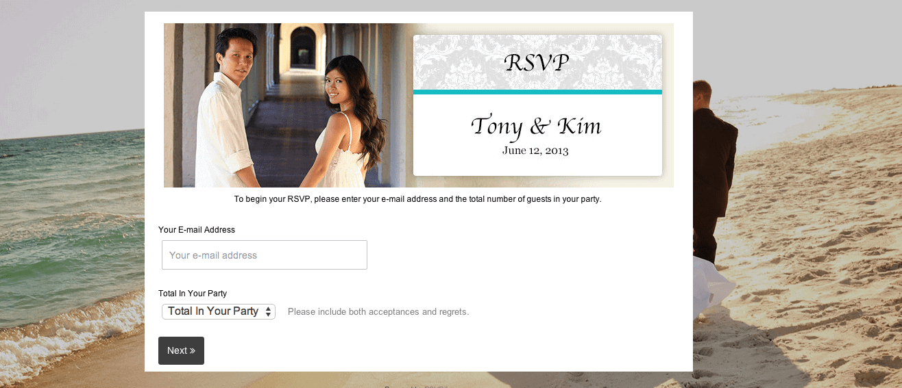 Digital Wedding RSVP