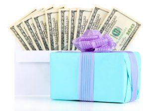 Wedding gifts + cash