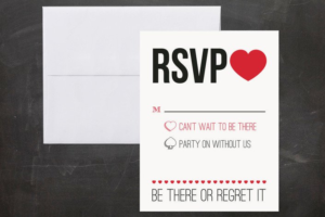 Funny RSVP: BE THERE OR REGRET IT