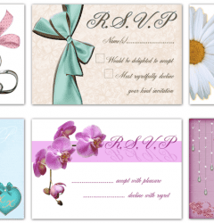 Traditional paper RSVP cards