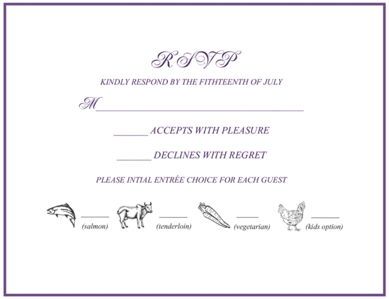 rsvp template for event - rsvp 101 how to rsvp to a wedding or event rsvpify