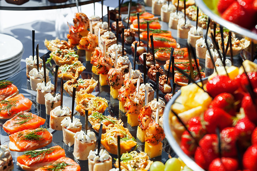 Catered event food