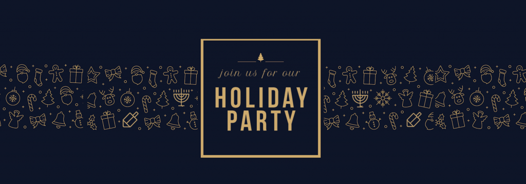 Image of a Holiday Party Invitation for a Formal or Corporate Holiday Event