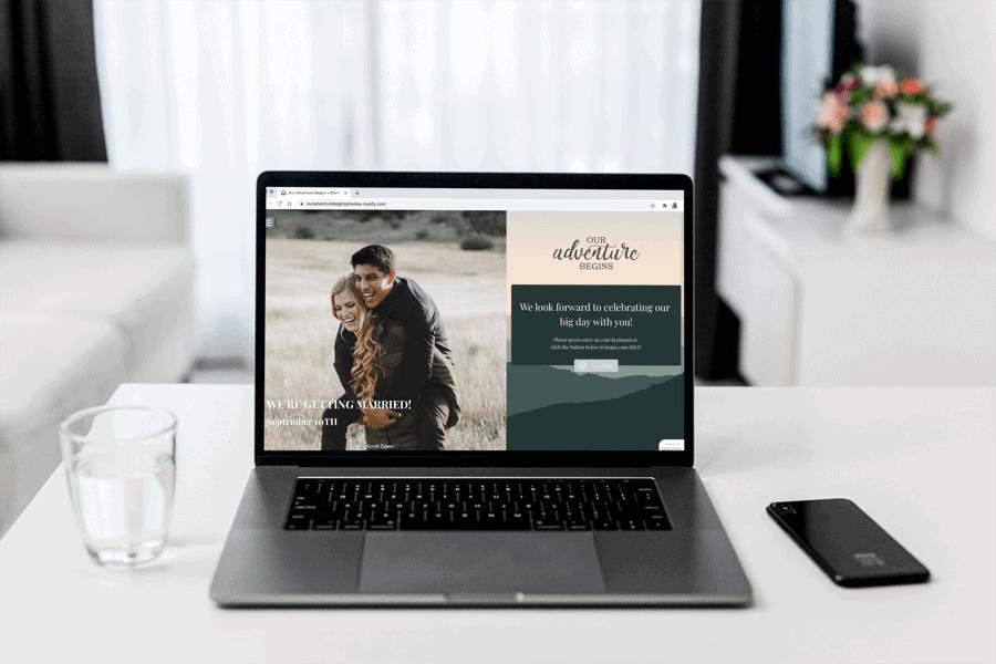 Create a custom wedding website in minutes