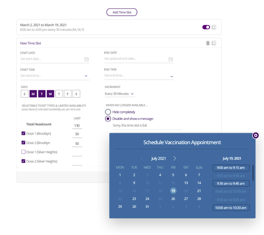 COVID-19 vaccination scheduling software from RSVPIfy