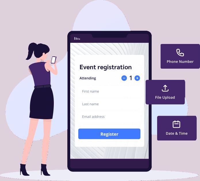 Streamlined event registration flows for guests