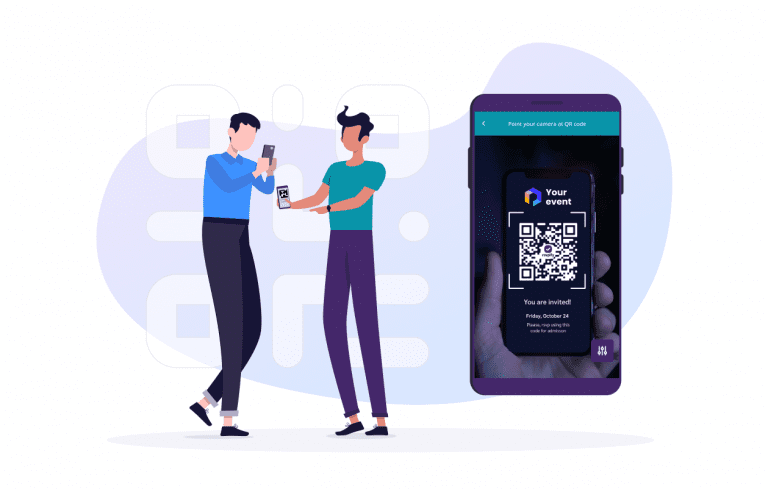 Custom QR codes for paper and online RSVPs