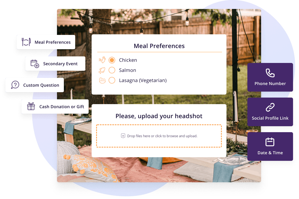 Use custom questions for easier guestlist management