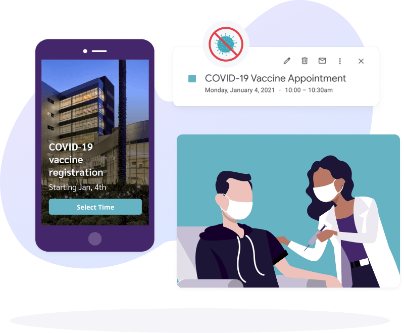 Efficient COVID-19 Vaccination Appointment Scheduling Software
