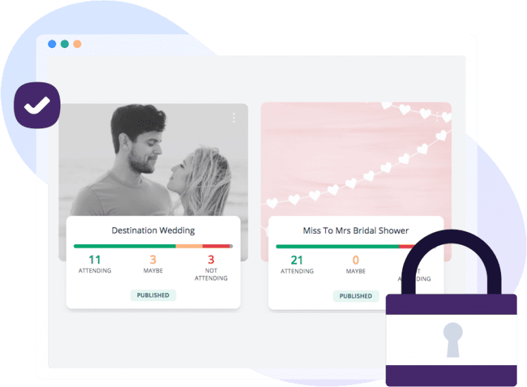 Secure wedding planning software and tools