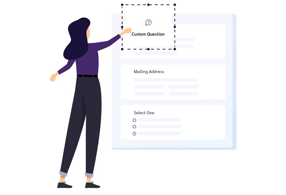 Customizable event registration forms