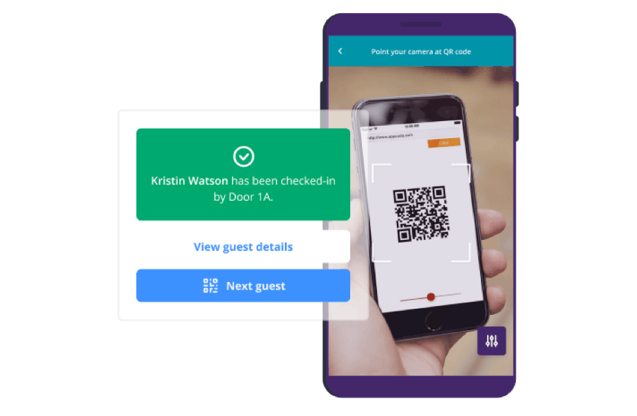 Event check-in with custom QR codes