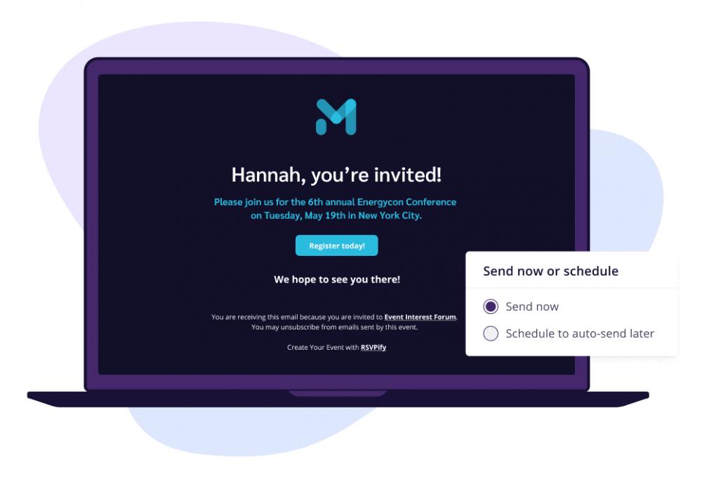 Elegant custom online invitations with RSVPify
